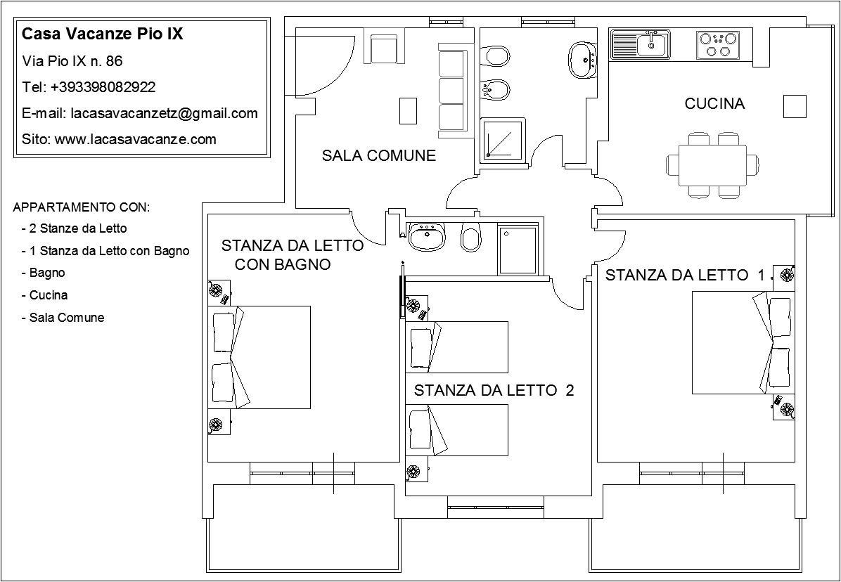 Stanze in affitto in una grande casa con 3 camere da letto for Casa con 3 camere da letto con garage in vendita